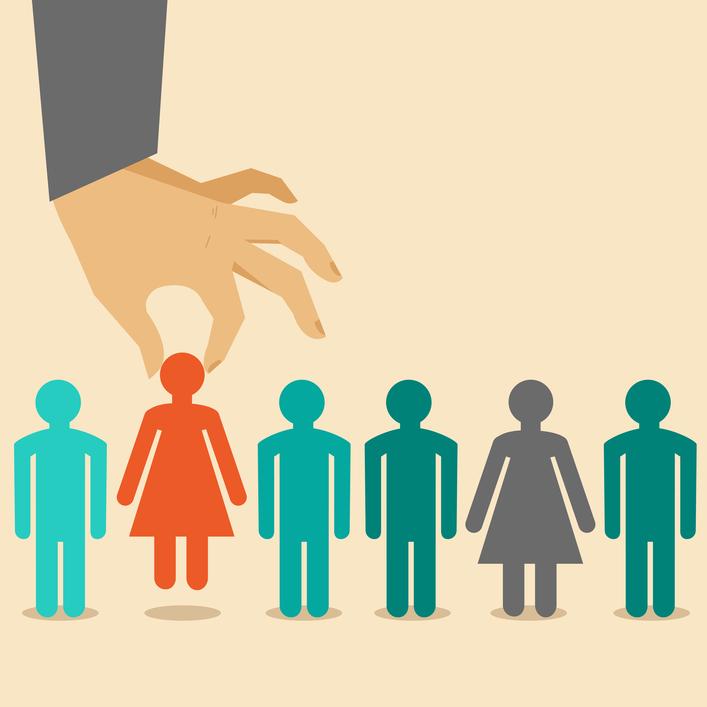 Vector human resources concept