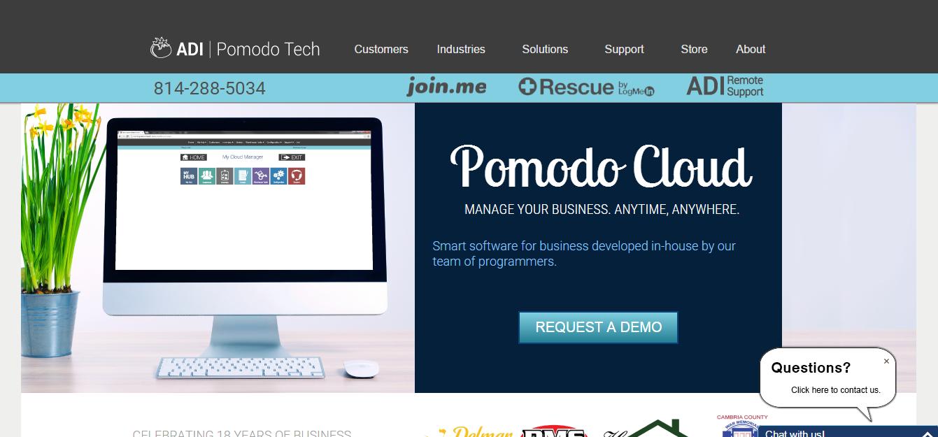 Pomodotech_homepage