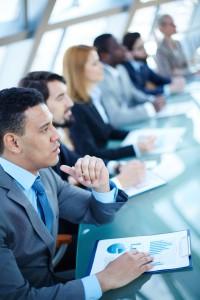 Business seminar, training